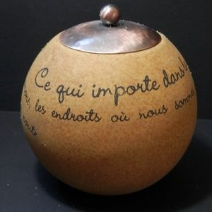 Other - Votive Candle Holder with French Verse